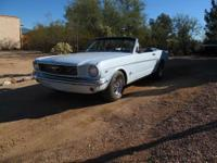 1966 Mustang convertible, 289 2bbl. V-8, automatic,