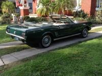 This is an Original 1966 Mustang Convertible with