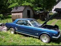 This is a 1966 Ford Mustang Coupe Project Vehicle, Was