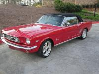 This is a 1966 Ford Mustang that was an ultra clean