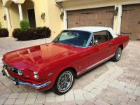 Gorgeous Red 1966 Ford Mustang GT Convertible with
