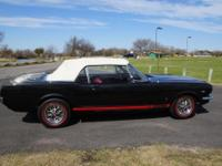 1966 Ford Mustang GT Convertible Manual Black. It had a