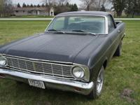 1966 Ford Ranchero is in Hot Rod Black primer you can