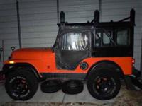 1966 Jeep CJ5 in Excellent Condition Orange Exterior