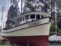 Beautiful 1966 Landry Shrimp boat is in mint condition.