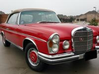 1966 Mercedes-Benz 250se Convertible  Runs Great, very