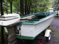 Boat motor and trailer all in good shape boat needs