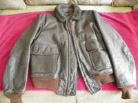 This leather jacket is in exceptional condition. The