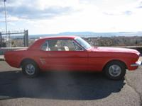 1966 Ford Mustang Coupe, 6cyl, completely refurbished.