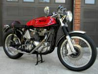 Customized built, 1966 750cc Norton Atlas caf racer.
