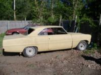66 Nova.. 2 dr. hardtop real v8 car...vin# 6611637/ 716