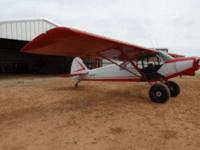 This is a 1966 Piper Super Cub PA18-150, powered by a