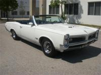 1966 PONTIAC GTO CONVERTIBLE. . . . . . . WHITE WITH A