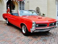 1966 Pontiac GTO Convertible Immaculate Restoration,