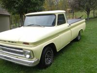 1966 Chevy C-15 pick-up truck 283 V-8 motor has just