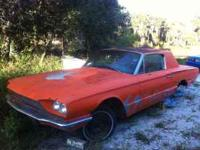 1966 Ford Tbird project car. All the interior is there,
