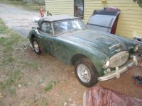 This is a 1967 Austin healey 3000 that needs