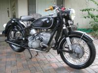 1967 BMW R69SIt is a triple numbers matching bike which