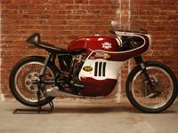 1967 BSA A 50 R road racer motorcycle. One of a small
