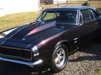 1967 Camaro RS 496 BBC 770 HP Dynoed. Only 3 test runs