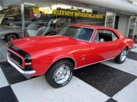 1967 Camaro RS/SS 396 Original R Code Bolero Red with