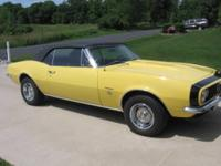 The present owner is selling his pro-restored 67 Camaro