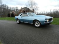 1967 SS Camaro 124 vin V8 car. 57,211 low mileage rust