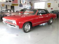 '67 Chevelle Convertible Red exterior and black