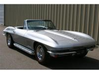 1967 Corvette convertible. 300 horsepower, 327, numbers