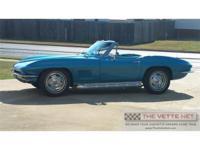 1967 Marina Blue Convertible CorvetteBody Style: