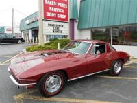 1967 Corvette Coupe Marlboro Maroon with a Black vinyl
