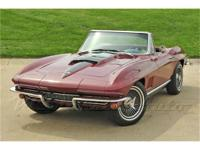This 1967 Chevrolet Corvette shows a scant 31,317 miles
