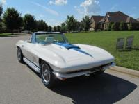 A Chevrolet Corvette with 4 SPEED MANUAL TRANS, NUMBERS