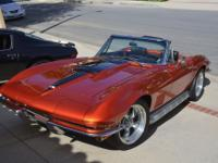 1967 Chevrolet Corvette convertible and removable