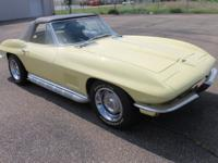 1967 Chevrolet Corvette Roadster. The 327ci / 300hp is