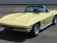 1967 Chevrolet Corvette Yellow The 327ci is 300hp and