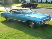 Beautiful Metallic Turquoise Impala Convertible