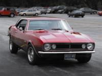 1967 Camero ready to show. Column automatic and