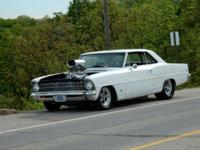 1967 Chevy II Nova, 355 sbc, 671 blower,650 carbs, 8 to
