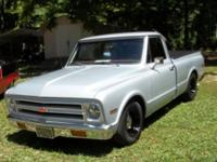 Very sharp 1967 Chevy Pickup with a nice Orteze Silver