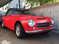 1967 Datsun roadster Low Windshield, U20 2000cc Engine,