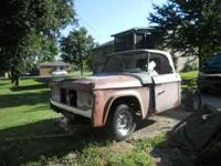 A PROJECT TRUCK 1967 D100 STEP SIDE BED . BED IS NOT IN