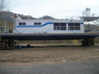 1967 DRIFTER STEEL HULL HOUSEBOAT WITH A 4 CYCLE CHEVY