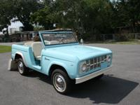 This is a 1967 Ford Bronco U13. This model was only