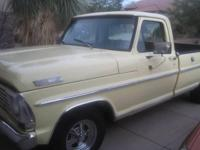 1967 Ford F-100 for sale (AZ) - $7,400. 120,000