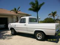 1967 Ford F100, 289 V-8 with Headers, Fmx trans with