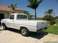 1967 Ford F100 with 302 V-8 with headers, FMX
