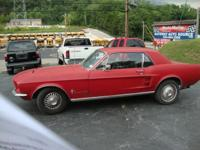 1967 FORD MUSTANG 2 DOOR COUPE 200 CI STRAIGHT 6