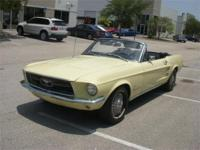 1967 MUSTANG CONVERTIBLE. . . . .SPRING TIME YELLOW