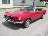 1967 MUSTANG CONVERTIBLE. . . . . . RED PAINT ON A